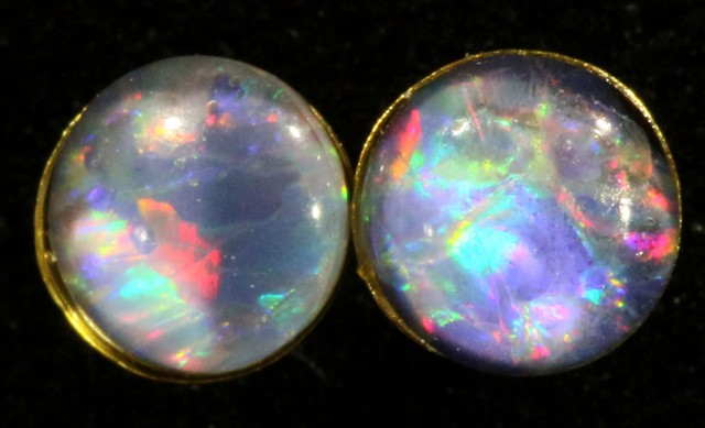 Cute Triplet Opal 18k Gold Earrings  SB 733