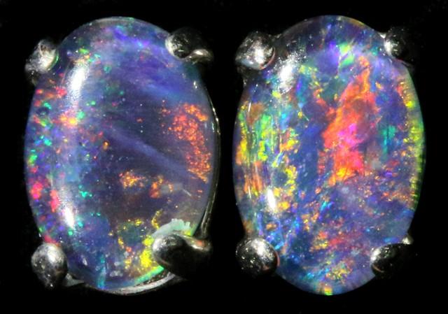 Cute Triplet Opal 18k Gold Earrings  SB 747