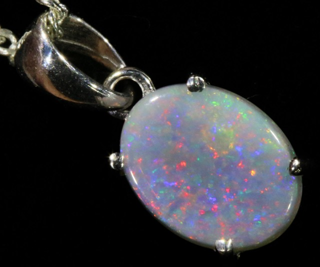 Cute Solid Crystal Opal 18k Gold Pendant SB 775