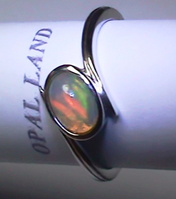 9.50 ct Stunning 925 Silver Bright Multi Color Welo Ring