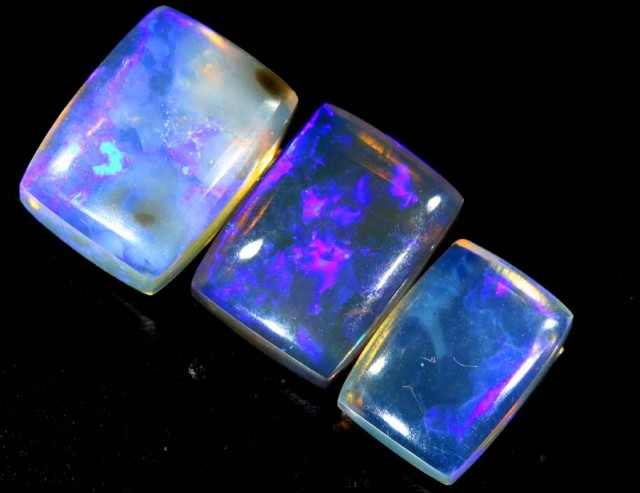 3.85 CTS CRYSTAL OPAL POLISHED PARCEL 3PCS TBO-6806