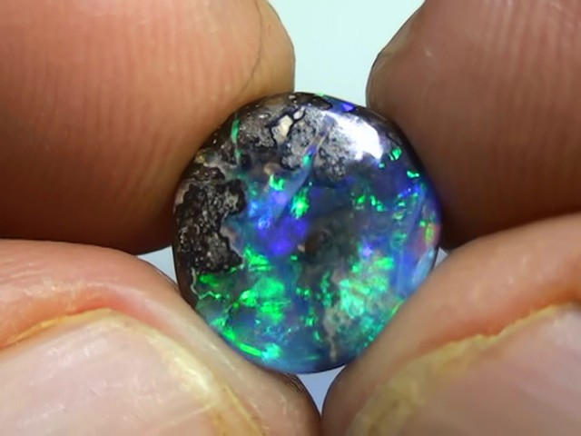 3.80 ct Gem Blue Green Queensland Boulder Opal
