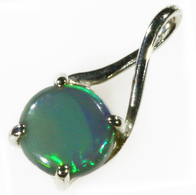 18k White gold with  solid Black opal CF976