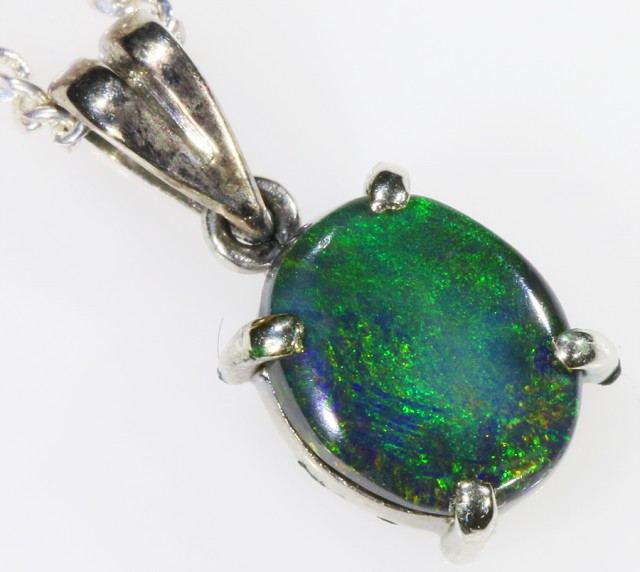 18k White gold with solid  Black opal CF989