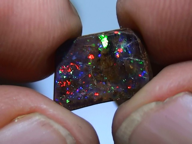 2.10 ct Gem Rainbow Color Solid Boulder Opal