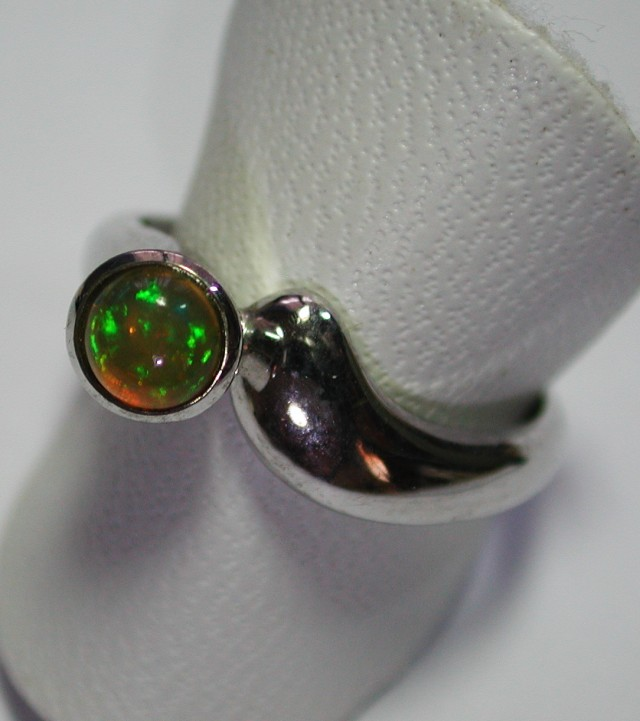18.0 ct Stunning 925 Silver Bright Multi Color Welo Ring