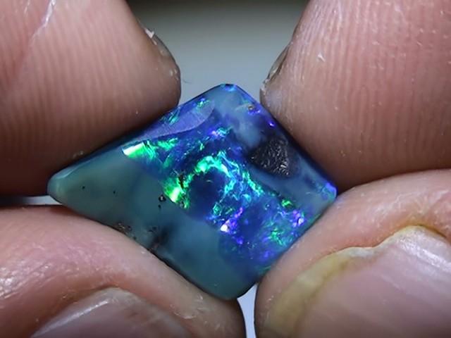 3.95 ct Boulder Opal Natural Gem Blue Green Color