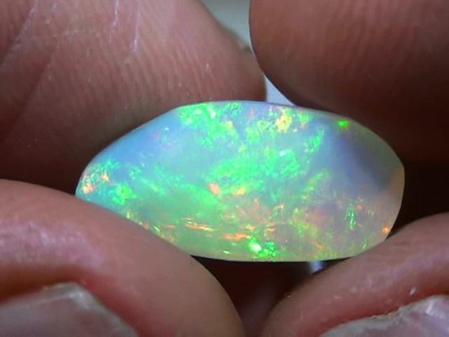 3.50 ct Ethiopian Gem Color Carved Freeform Welo Opal