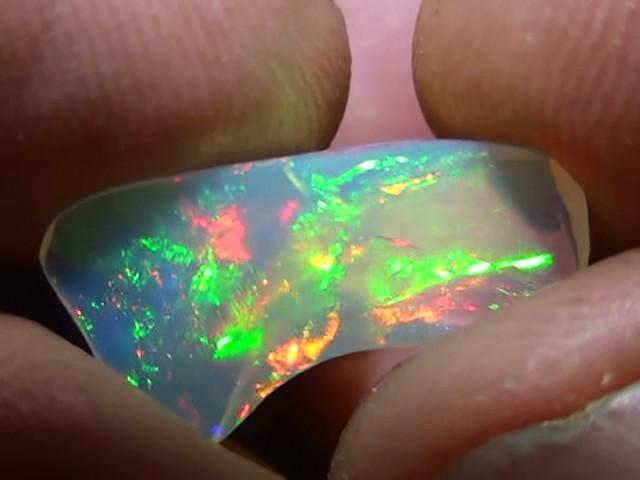2.55 ct Ethiopian Gem Color Carved Freeform Welo Opal
