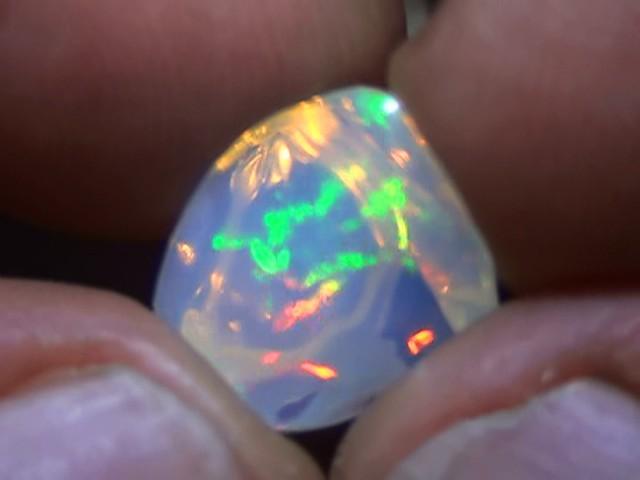 5.0 ct Ethiopian Gem Color Carved Freeform Welo Opal