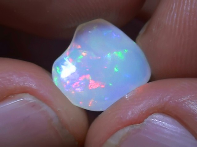 2.65 ct Ethiopian Gem Color Carved Freeform Welo Opal