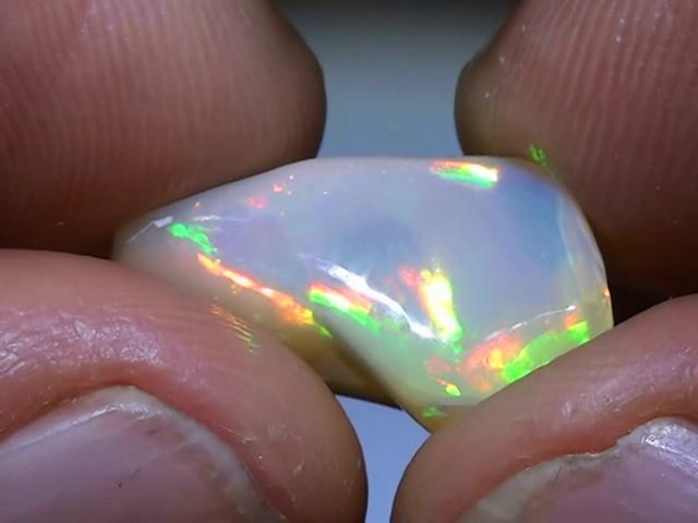 8.15 ct Ethiopian Gem Color Carved Freeform Welo Opal