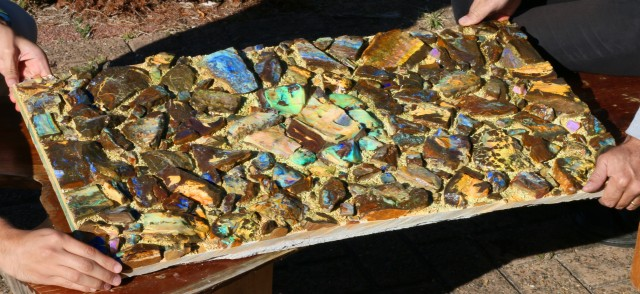 Boulder Opal Art Display