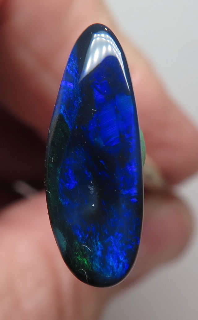 1.61Ct Lightning Ridge Black Opal stone