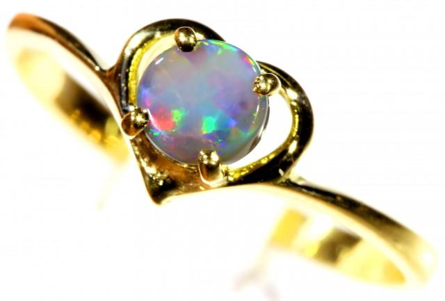 Cute Black Opal 18k Yellow Gold Ring SB 898