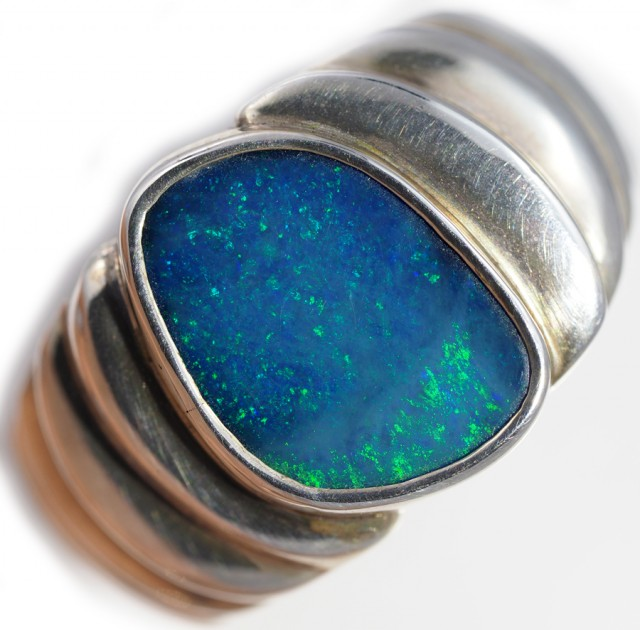 Doublet opal Ring sterling silver QO2921