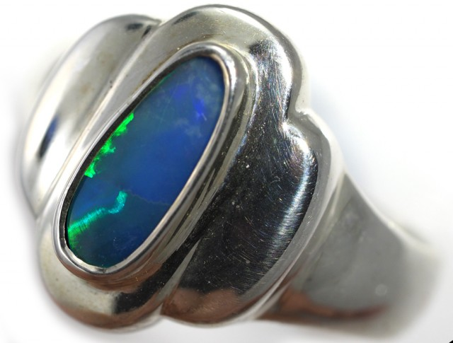 Doublet opal Ring sterling silver QO2922