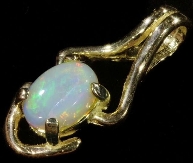 Fire Opal set in 18k  Gold Pendant  CF 1061