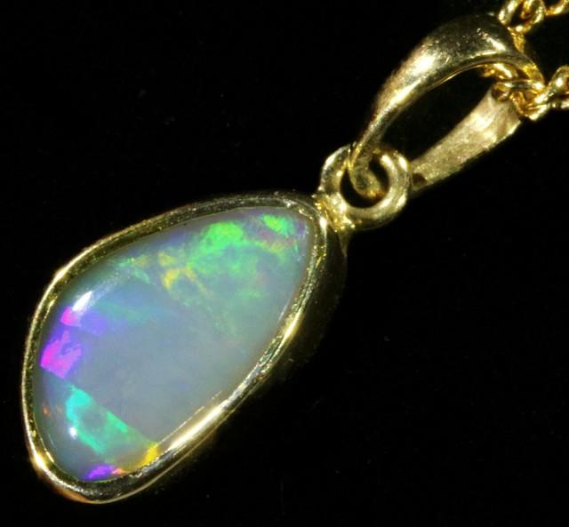 Fire Opal set in 18k  Gold Pendant  CF 1067