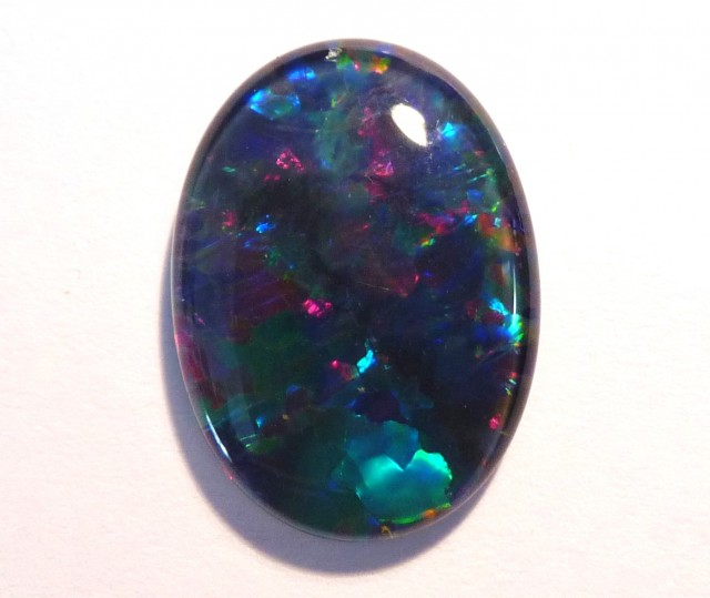 Pretty Australian Coober Pedy Opal Triplet, 18x13mm