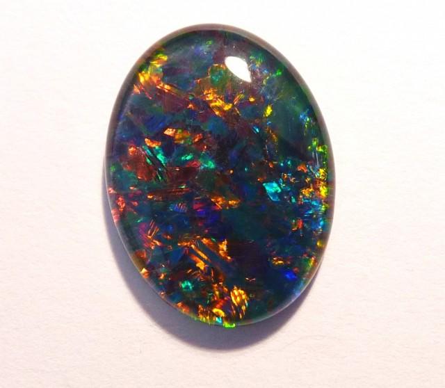 Stunning Gem Grade Australian Coober Pedy Opal Triplet, 16x12mm (#2647)