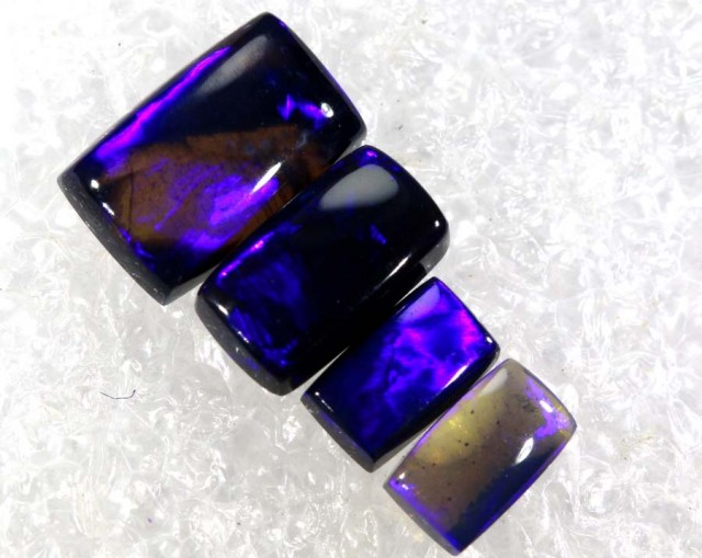 N2- 1.95 CTS BLACK OPAL POLISHED PARCEL 4PCS TBO-6858