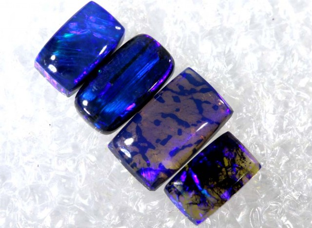 N3- 1.7 CTS BLACK OPAL POLISHED PARCEL 4PCS TBO-6862