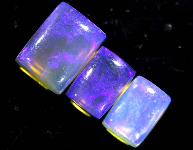 3.65 CTS CRYSTAL OPAL POLISHED PARCEL 3PCS TBO-6883