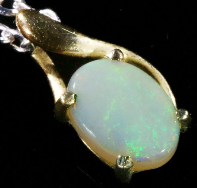 Fire Opal set in 18k  Gold Pendant  CF 1077