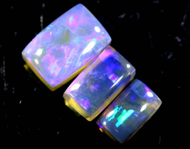 1.35  CTS CRYSTAL OPAL POLISHED PARCEL 3PCS TBO-6925