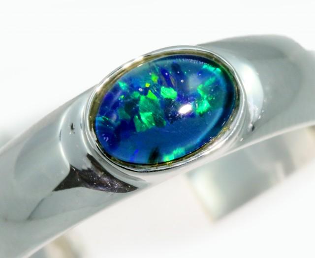 Triplet Opal 18k White Gold Ring SB935