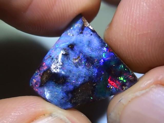 9.55 ct Boulder Opal With Gem Multi Color