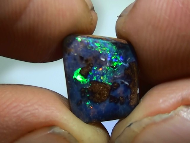 3.45 ct Boulder Opal Natural Gem Blue Green Color