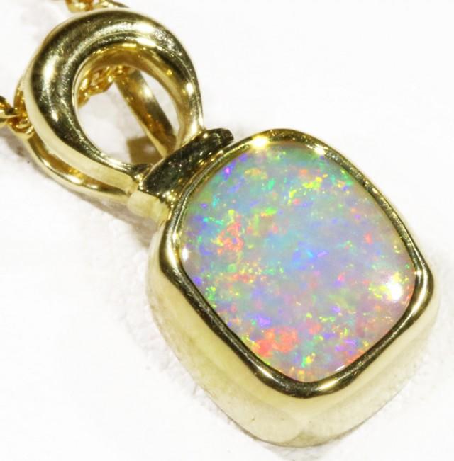 Black  Opal set in 18k  Gold Pendant  CF 1191