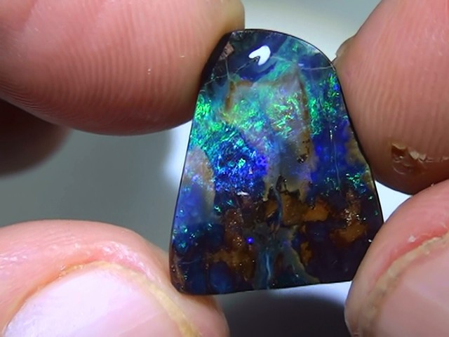 6.30 ct Boulder Opal With Beautiful Blue Green Color