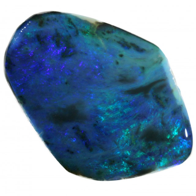 35.60 CTS BLACK  OPAL ROUGH -CLEAN PRE-RUBBED [BR5474] SAFE