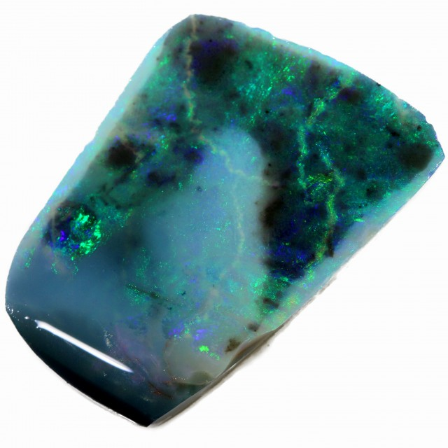 13.90 CTS BLACK  OPAL ROUGH -CLEAN PRE-RUBBED [BR5483] SAFE
