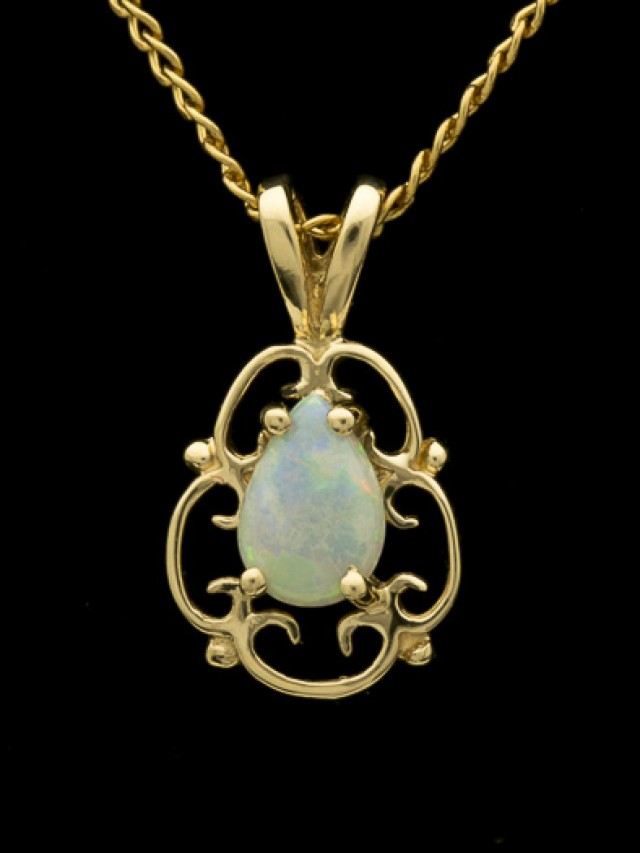Solid Semi-Crystal Opal Pendant 0.75ct (LP162)