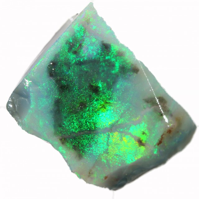 9.50 CTS BLACK  OPAL ROUGH -CLEAN PRE-RUBBED [BR5496] SAFE