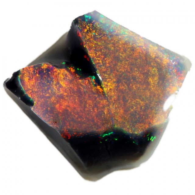 2.65 CTS BLACK OPAL ROUGH -CLEAN PRE-RUBBED FOR CARVING   [BR5503] SAFE