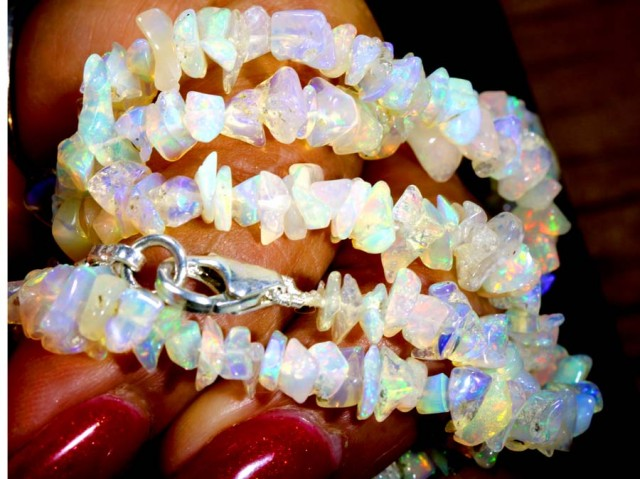 50.10CTS CHIPS OPAL BEADS STRANDS FOB-1087-FIREOPALBEADS