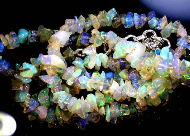 55.05CTS CHIPS OPAL BEADS STRANDS FOB-1094