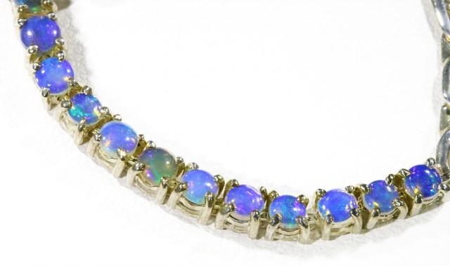 Fire Opal Solid Bracelet , top design sterling silver CF1304
