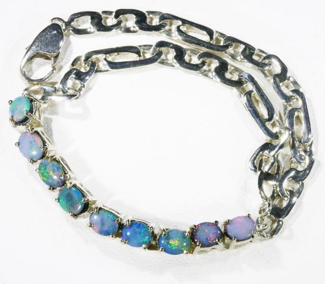 Fire Opal Doublet Bracelet , top design sterling silver CF1308