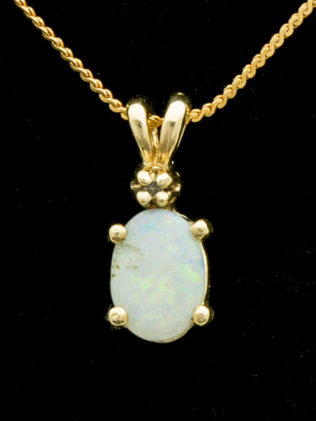 Solid Opal Pendant w/Chain 1.13ct (LP160)