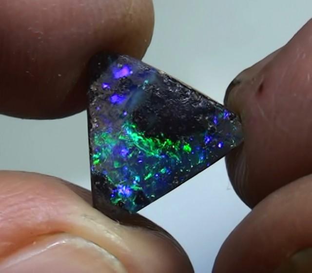 2.35 ct Boulder Opal Natural Gem Blue Green Color