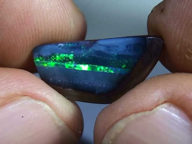 6.05 ct Boulder Opal Natural Gem Blue Green Color