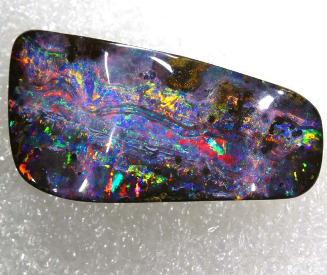 51.5 CTS QUALITY BOULDER OPAL POLISHED STONE DRILLED   INV-789