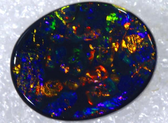 N1  5.85 CTS QUALITY BLACK SOLID OPAL LIGHTNINGRIDGE INV-807 GC