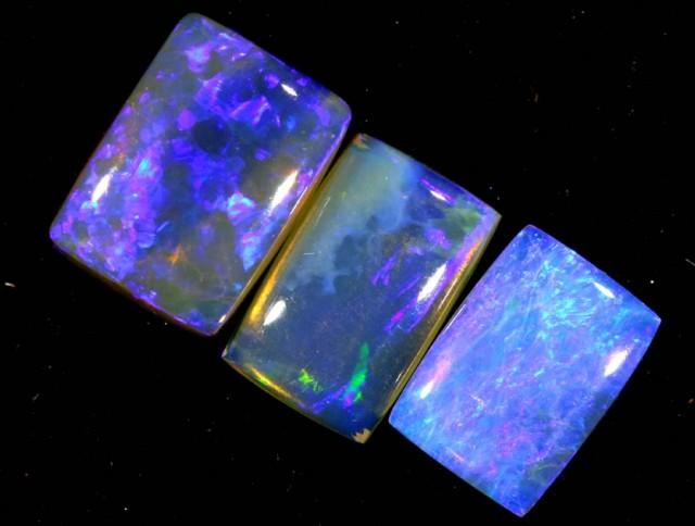 3.20 CTS CRYSTAL OPAL POLISHED PARCEL 3PCS TBO-7254